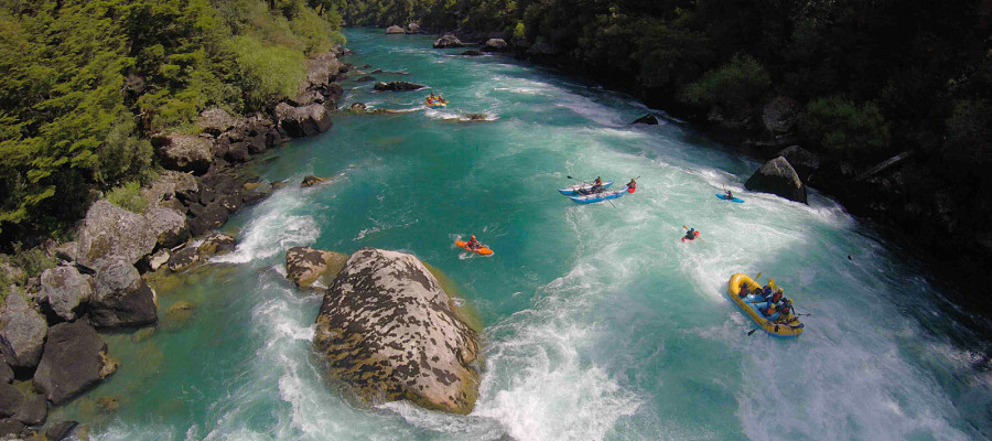 Eco-travel. Futaleufu River Rafting Adventure